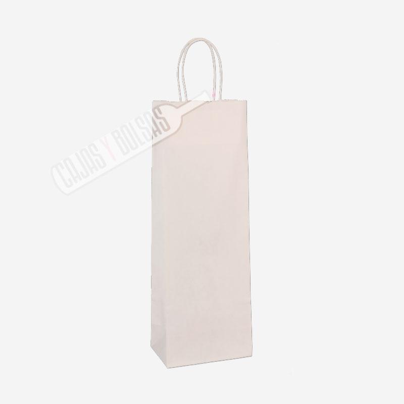Bolsa asa rígida para 1 botella celulosa blanco