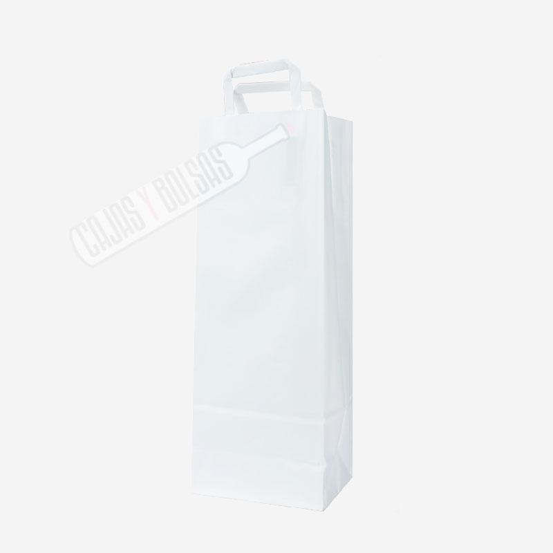 Bolsa asa plana para 1 botella celulosa liso