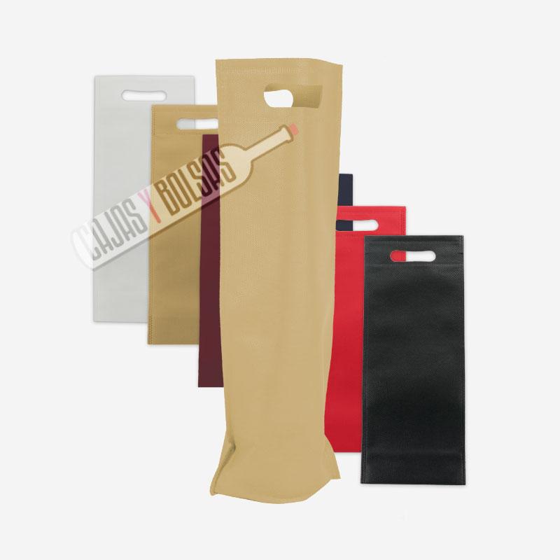 bolsa asa troquelada larga tela colores varios