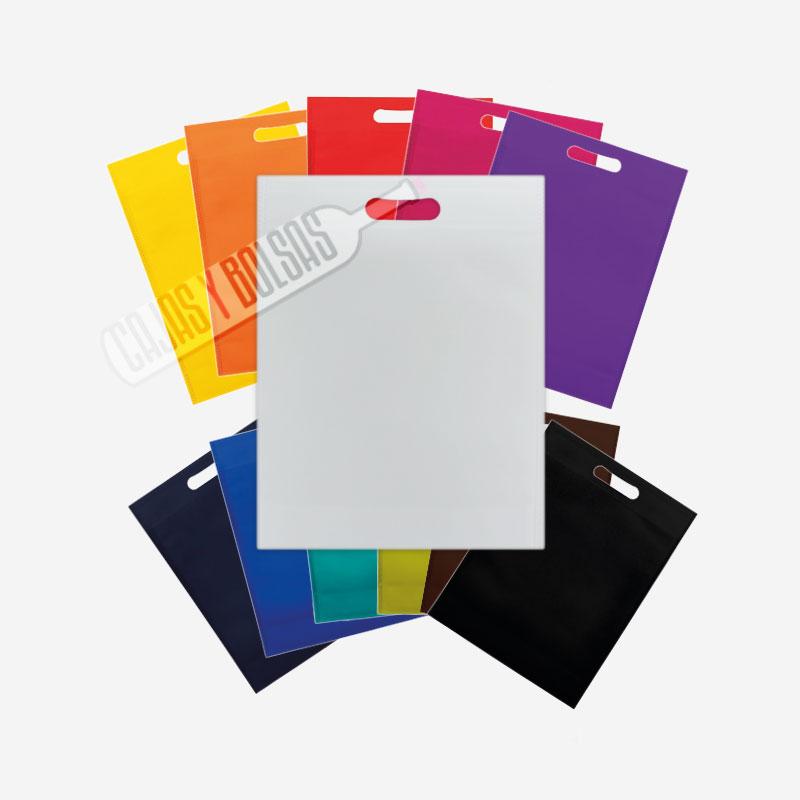 bolsa asa troquelada tela colores varios