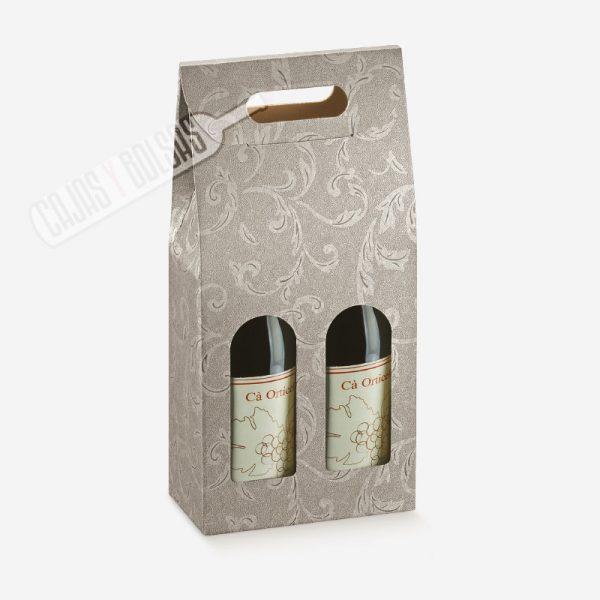 Caja para 2 botellas colección damasco