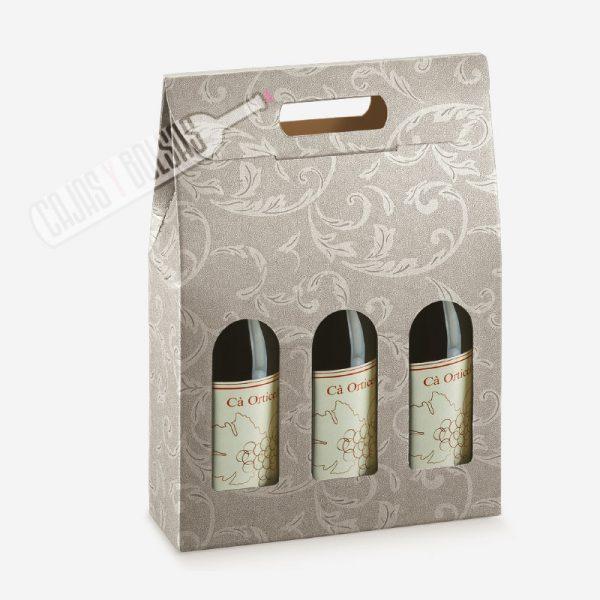 Caja para 3 Botellas colección damasco