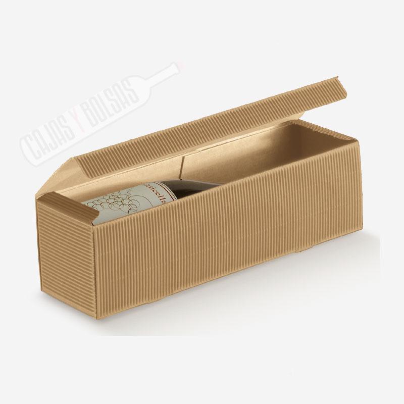 Caja para 1 botella con asa troquelada para 1 botella