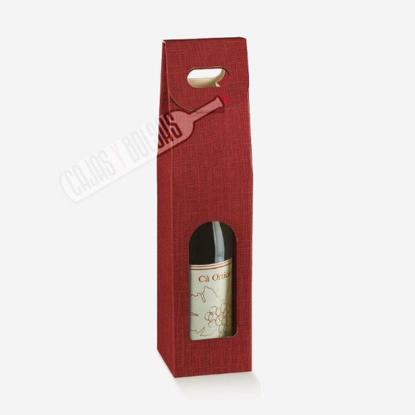 caja para 1 botella colección burdeos gofrado