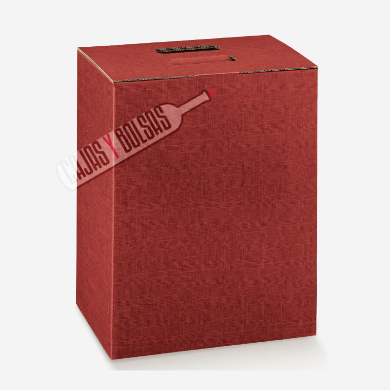 caja para seis botellas colección burdeos gofrado