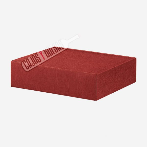 caja para seis botellas tumbadas colección burdeos gofrado